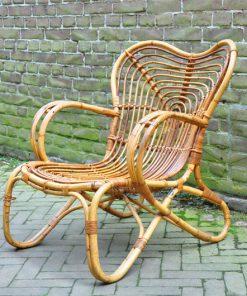 WF01. Rotan stoel - Trio, Noordwolde VERKOCHT