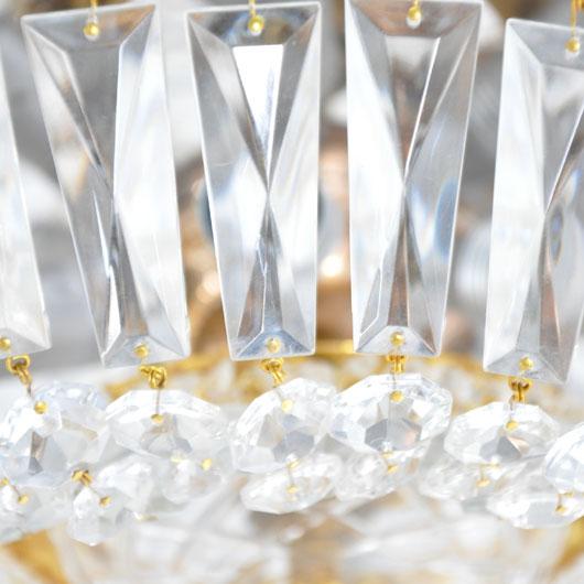 WC06-Kristallen plafondlamp - VERKOCHT