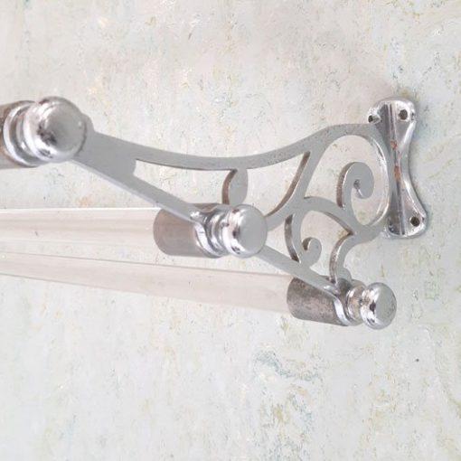 SG11 - Brocante - Franse Handdoekenrek - Glazen Staven