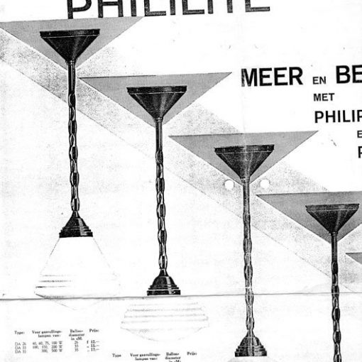 SF11 - Philips - Art deco - 1930's - PHILILITE -p/p/s