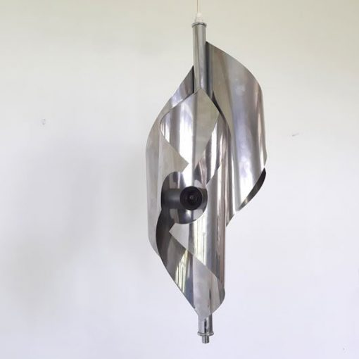 SK12 -Verchroomde hanglamp 70's