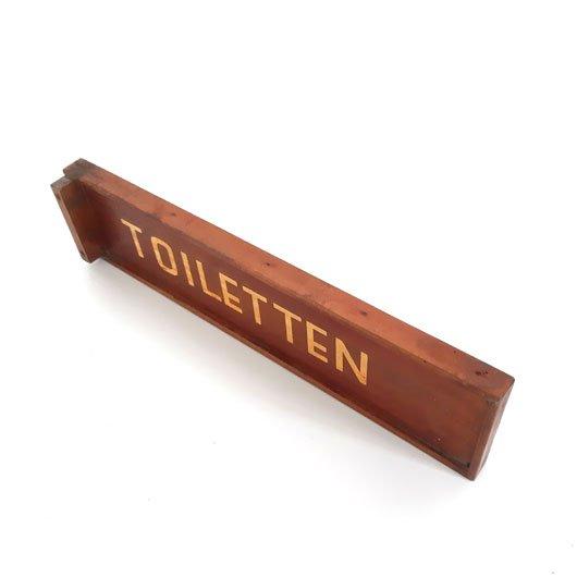 SK14 - Houten Toiletten bord - Sign Toilets - VERKOCHT