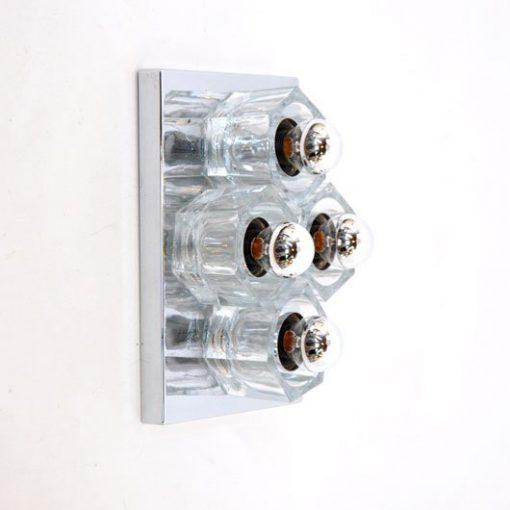 TE15 - Verchroomde wandlamp 60's