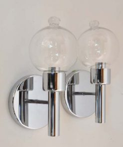 VH16- Verchroomde wandlampen -Jaren 60
