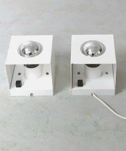 SG17 - Kubus wandlampen- tafellampen- Philips design team jaren 60 - VERKOCHT