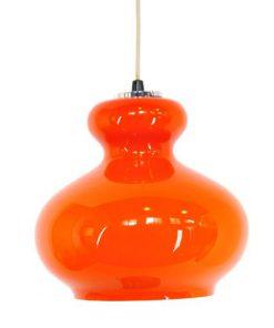 TG18 - Oranje hanglamp seventies - VERKOCHT