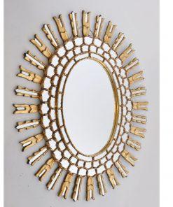 XB36. Verguld houten spiegel VERKOCHT