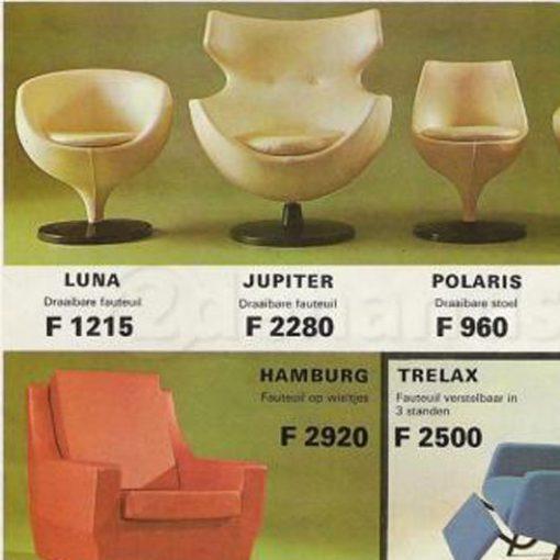 WH19- Pierre Guariche Luna ballchair