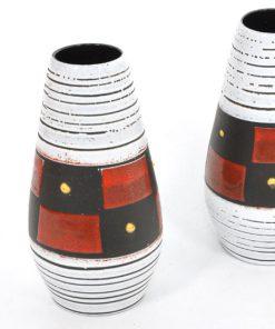 WH22-Jaren 70 keramieken vazen p/s-Gratis verzending NL