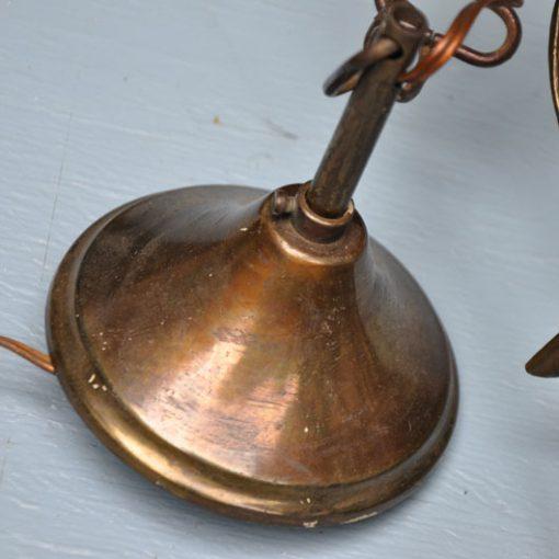VH23- Antieke Franse Messing Lamp