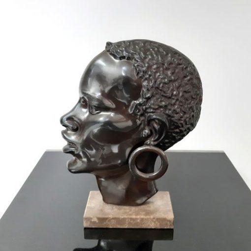 RM25 - Afrikaans hoofd - Gepatineerd