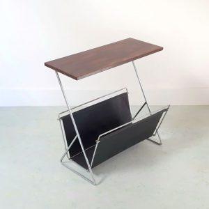RH25 - Bijzettafel – Lectuur – Lectuurhouder met tafeltje - Palissander