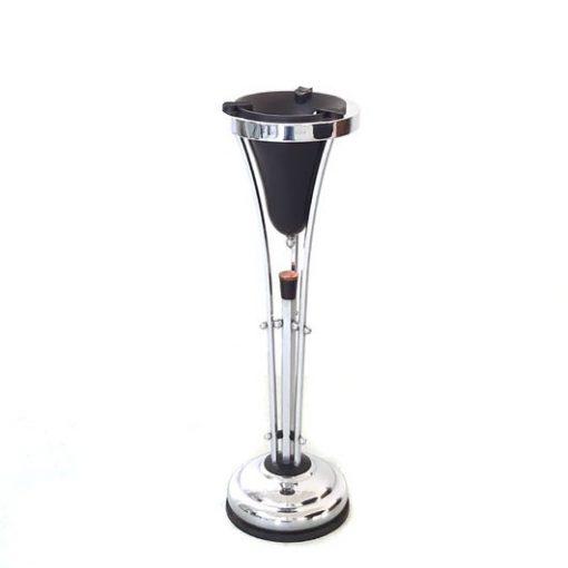 SH29 -Verchroomde - ART DECO - asbak -ashtray