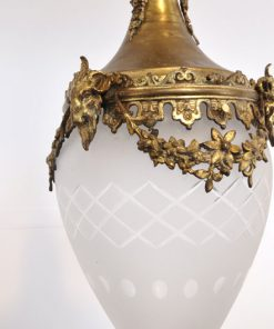 WL29- Antieke Franse Bronzen Lamp VERKOCHT