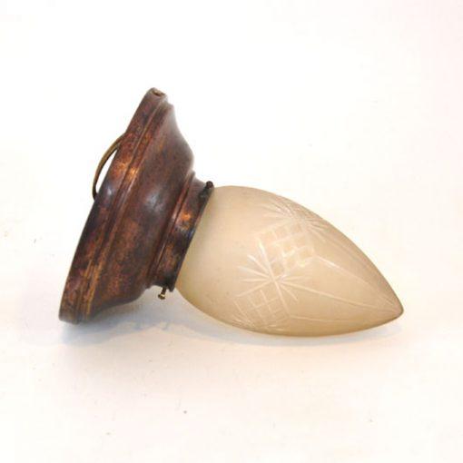 VG30 - Geslepen glas- antiek- plafondlamp - VERKOCHT