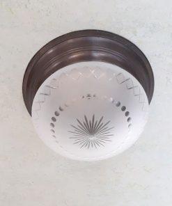 RM32 - Antieke Geslepen Kap - Plafondlamp