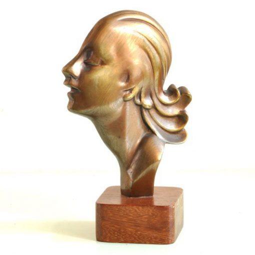 WF32-Art Deco vrouwenhoofd -VERKOCHT