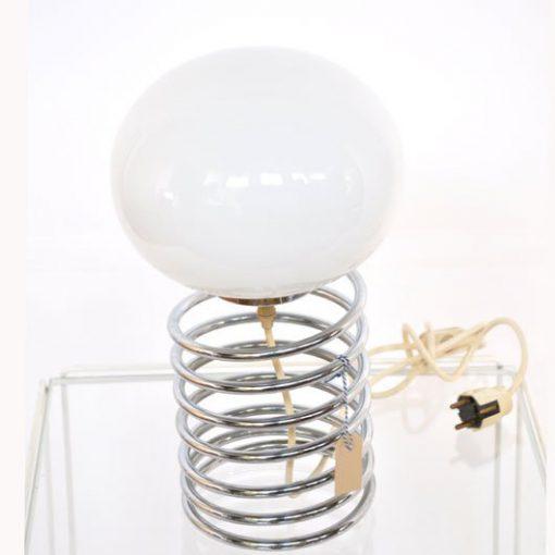 VL32- Spiraal tafellamp jaren 60- Spring Ingo Maurer VERKOCHT