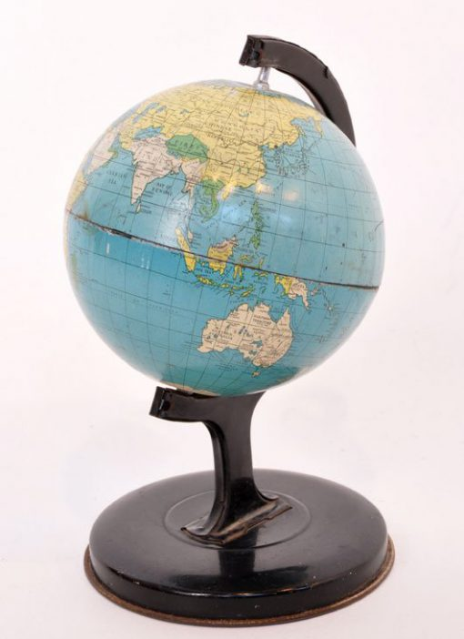 WN33- Globe van blik - 1950 VERKOCHT