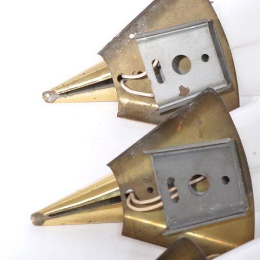 VL33- Wandlampen jaren 60 messing