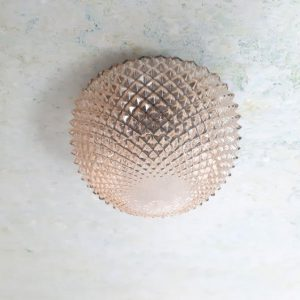 RL34 - Plafonniere jaren 70 – goud luster -VERKOCHT