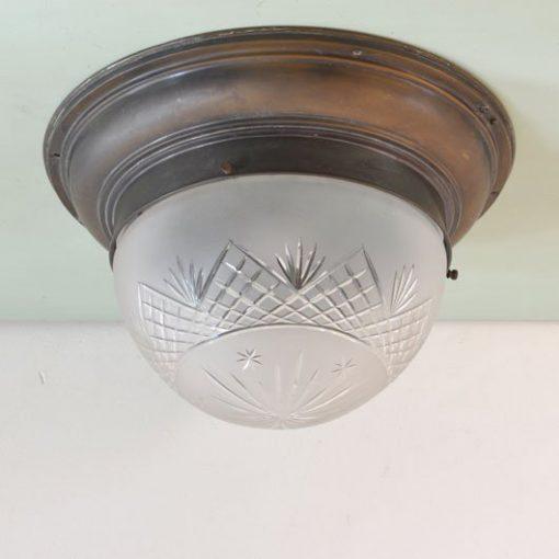 WG34. Geslepen glas- antiek- VERKOCHT