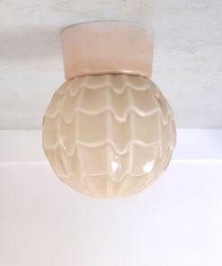 RH34 - Jaren 30-50 - opaal glazen lampen kap