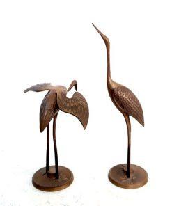 SF36 - Ibissen - kraanvogels - messing - Hollywood Regency Style - Brass Cranes