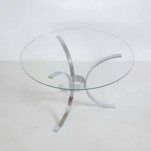 RG37 - Coffee table - chrome plated - glass