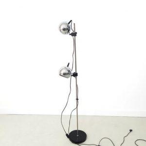 SH36 - Staande lamp - jaren 70- verchroomde bollen