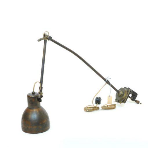 VM38- Werkbanklamp jaren 30 VERKOCHT