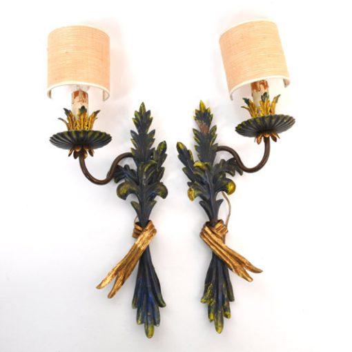 WC39- Italiaans setje wandlampen