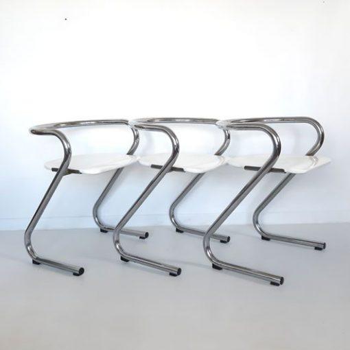 RL41 - Set of 4 dining chairs by Börge Lindau & Bo Lindekrantz for Lammhults, 1960s