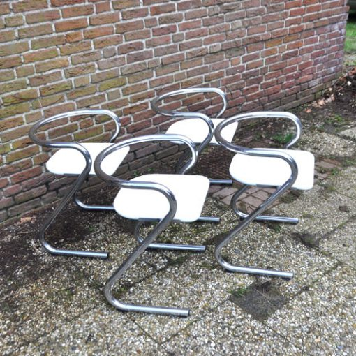RL41 - Set of 4 dining chairs by Börge Lindau & Bo Lindekrantz for Lammhults, 1960s