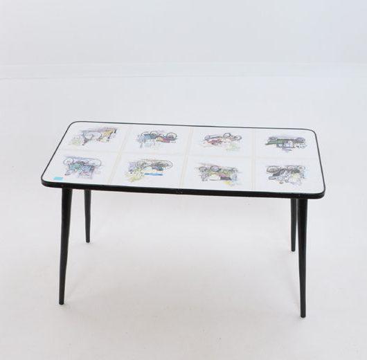 VF41 - Bijzet tafeltje -salontafeltje 1960