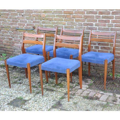 RL42 - Teak stoelen jaren 50 - Eettafelstoelen