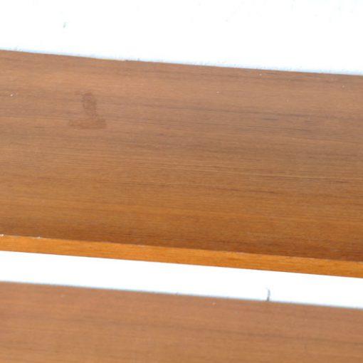 VH42- Wandrek met 4 teak planken VERKOCHT