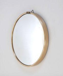 SK43 - Bol spiegel in messing houder