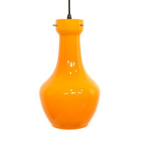 VK44- Oranje hanglamp jaren 70 Targetti VERKOCHT