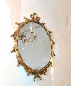 TA45 - Spiegel decoratief - messing jaren 60