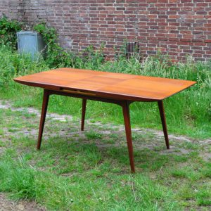 TG45 Teak Dining Table By Louis van Teeffelen for WeBe, VERKOCHT