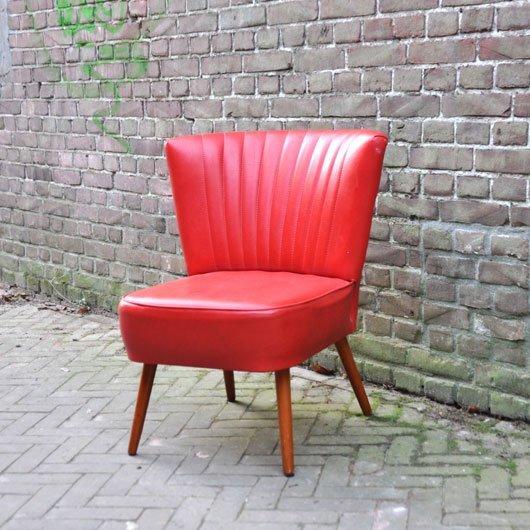 SN46 - Cocktailstoel - rode skai- VERKOCHT