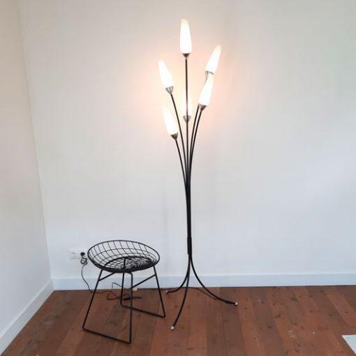 SH46 - Spriet retro staande lamp - jaren 50 - VERKOCHT