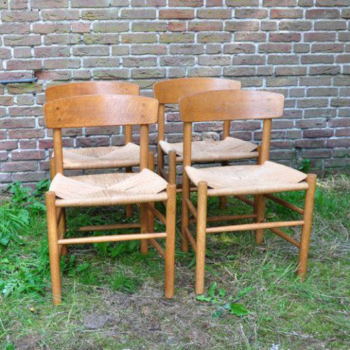 VE47 Mogensen Folke stoelen J39 - Set VERKOCHT