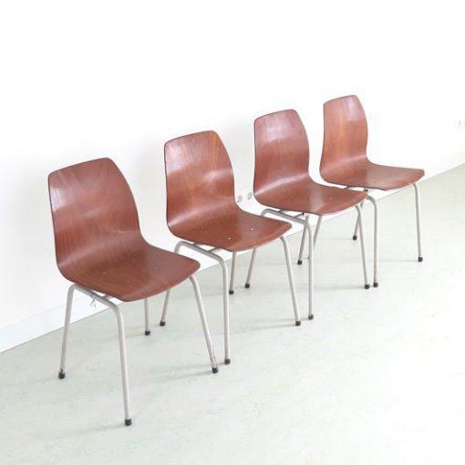 SH47 - Plywood schoolstoelen- 4 stuks -Pagholz
