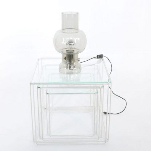 VL47-Glazen tafellamp 70-ties