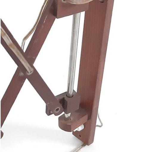 SK47 - Schaarlamp - hout - jaren 60