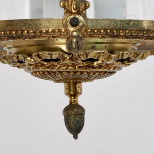 VM48- Antieke Franse Messing Lamp