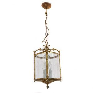 VM48- Antieke Franse Messing Lamp