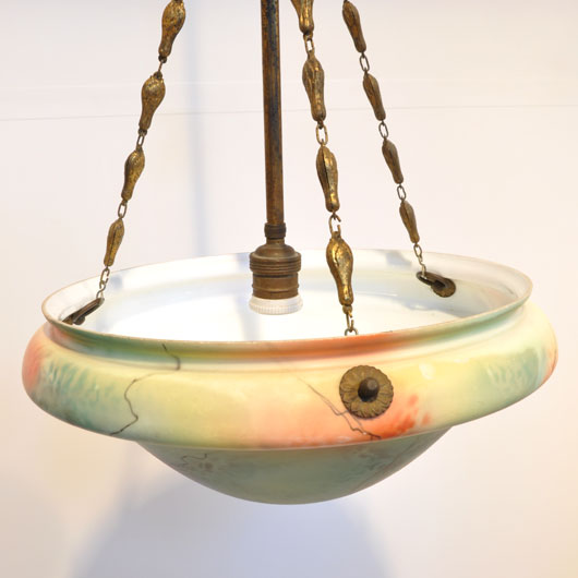 WA48- Schaallamp opaal gemarmerd, jaren 20 - VERKOCHT